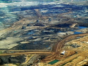 Tar Sands in Alberta, from which the oil would be transported.