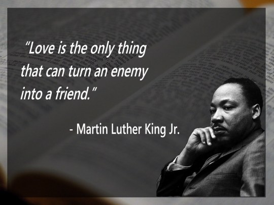 love is the only thing that can turn an enemy into a friend