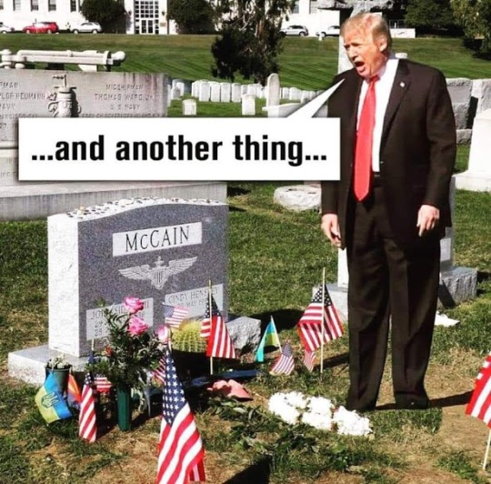 trump yelling at grave